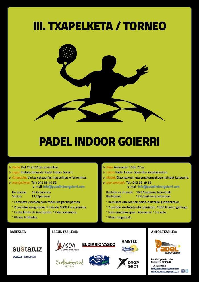 III. Torneo Padel Indoor Goierri